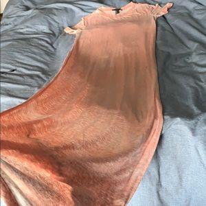 Dresses & Skirts - Orange Maxi T-shirt Dress